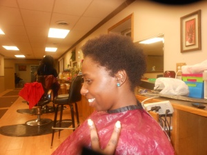Side View Before Locs Start. Let's Do This!